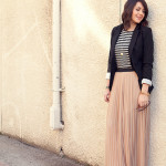 "✩ Look do Dia ✩- Quinta-feira ""Plissado Vs. Listras"""